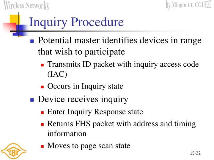 Inquiry Procedure