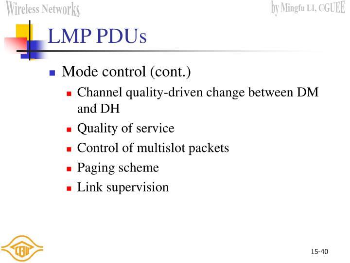 LMP PDUs