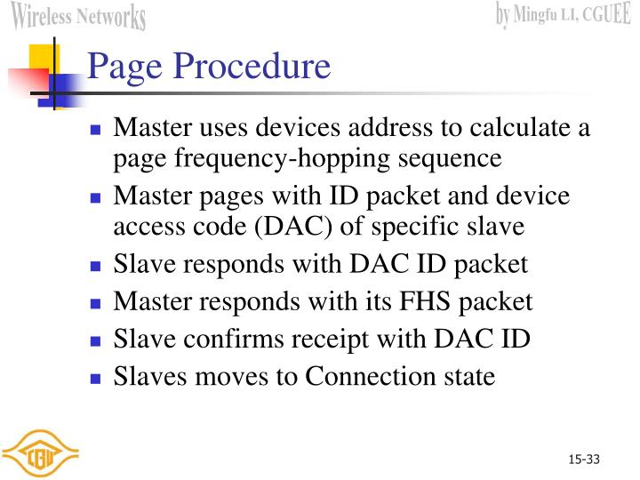 Page Procedure