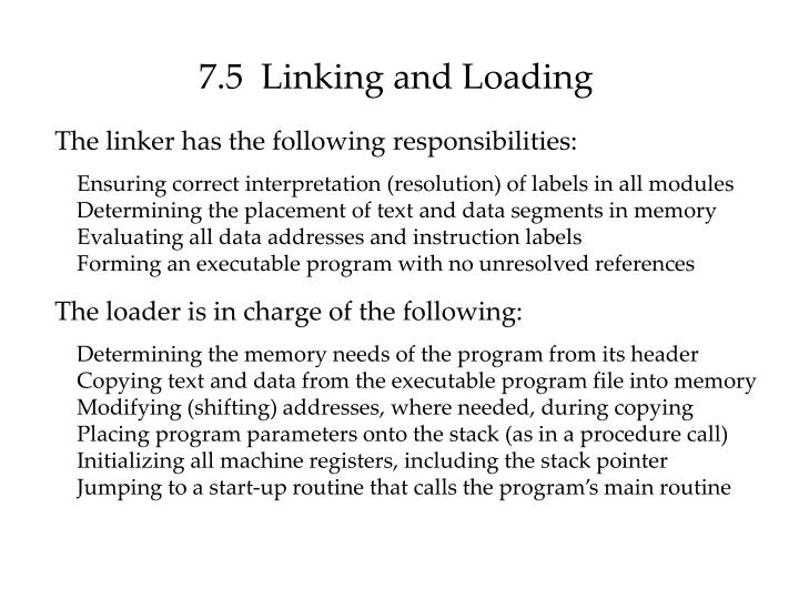 7.5  Linking and Loading