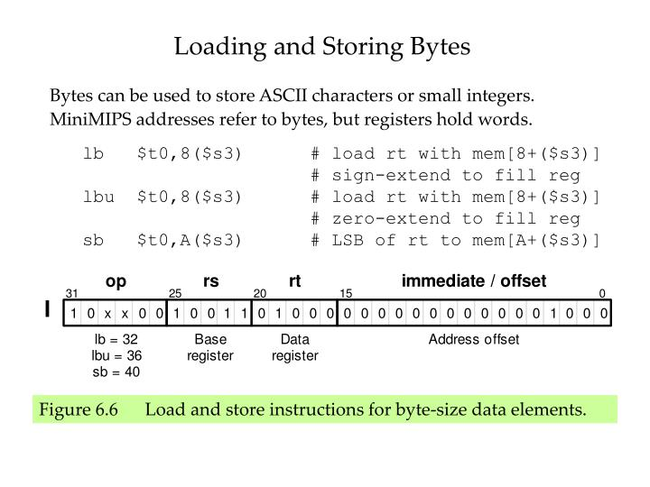 Loading and Storing Bytes