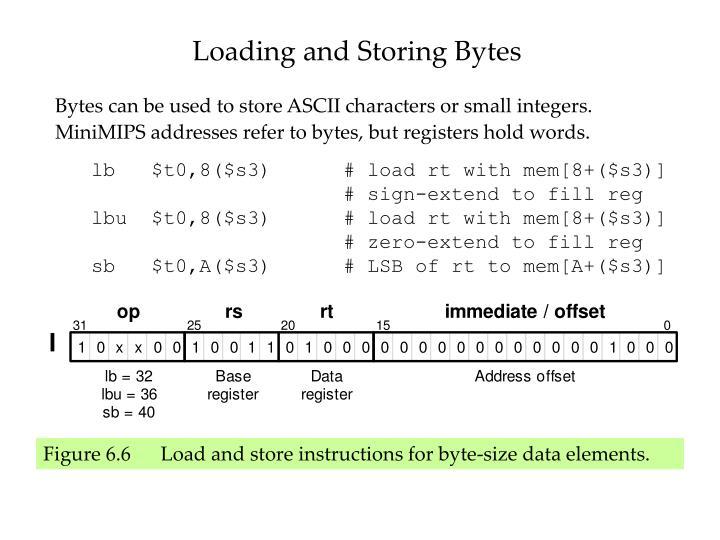 Loading and Storing Bytes