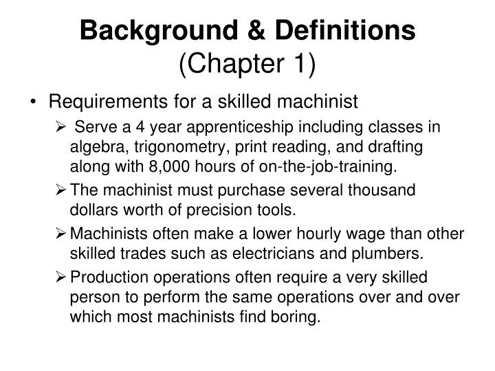 Background definitions chapter 1