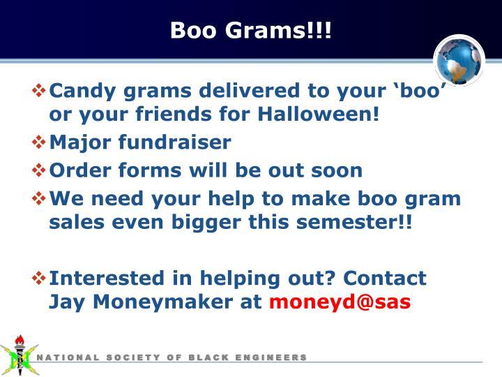 Boo Grams!!!