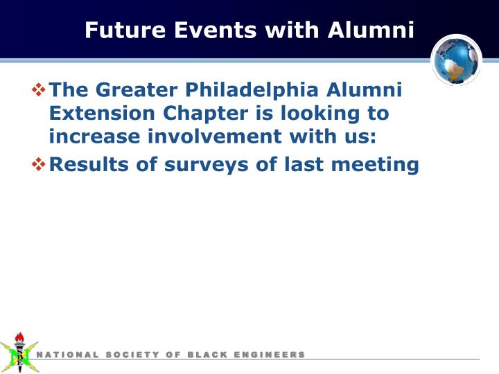 Future Events with Alumni