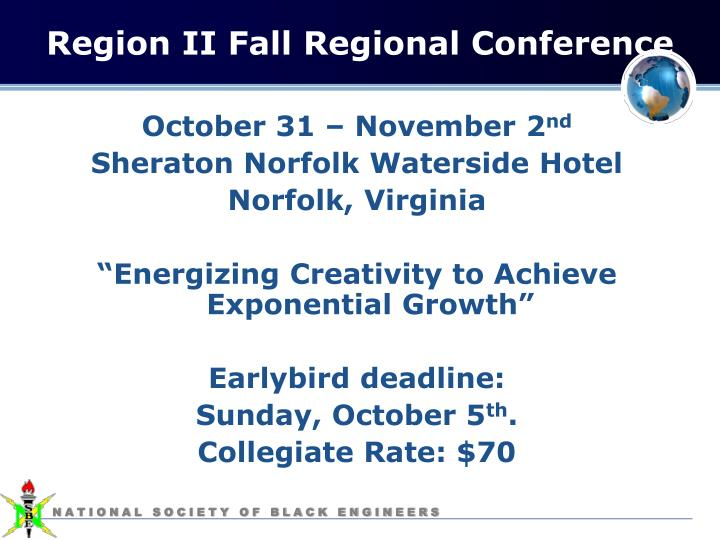 Region II Fall Regional Conference