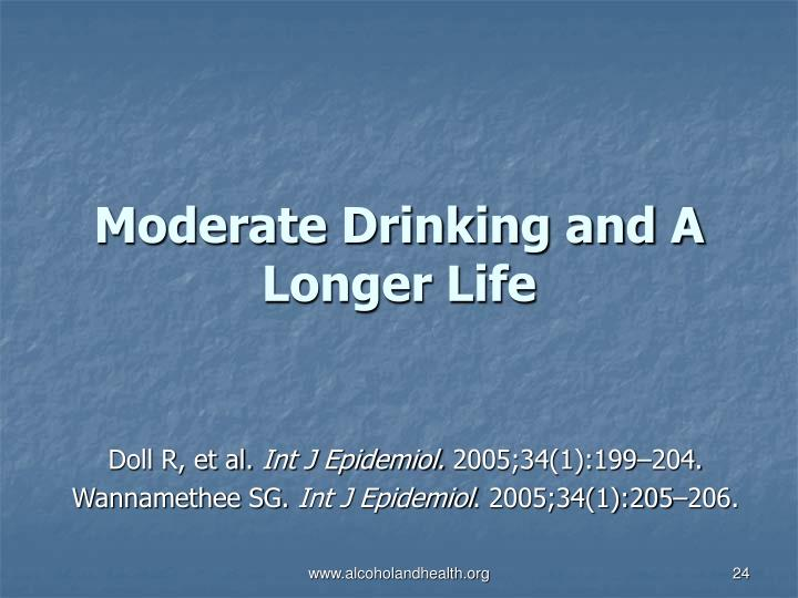 Moderate Drinking and A Longer Life