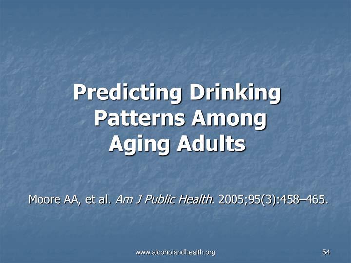 Predicting Drinking