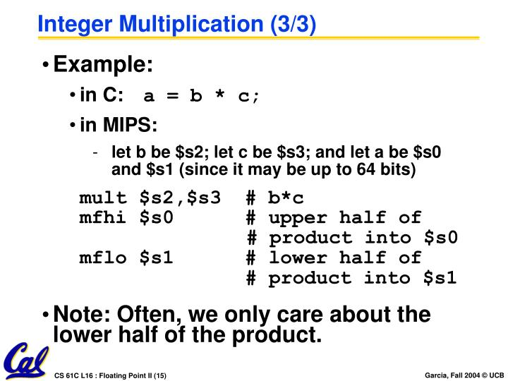 Integer Multiplication (3/3)