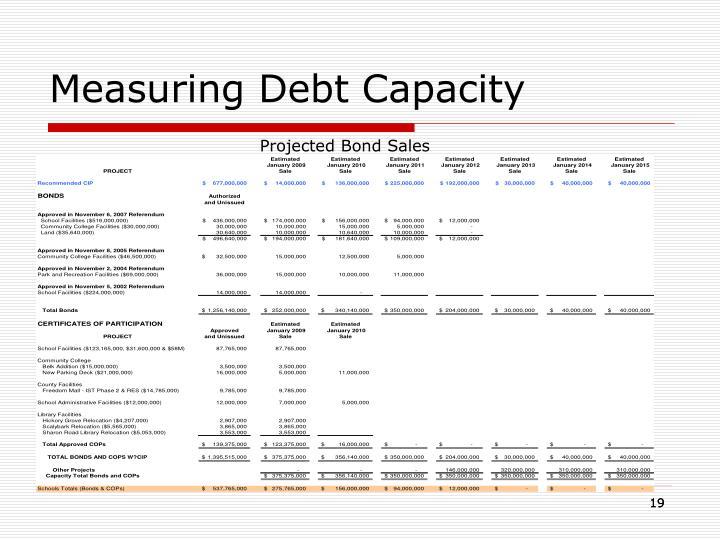 Measuring Debt Capacity