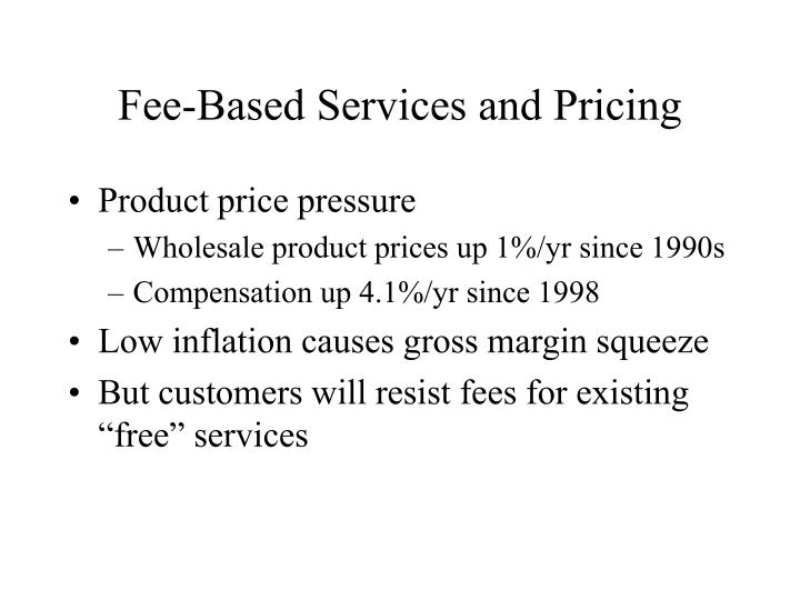 Fee-Based Services and Pricing