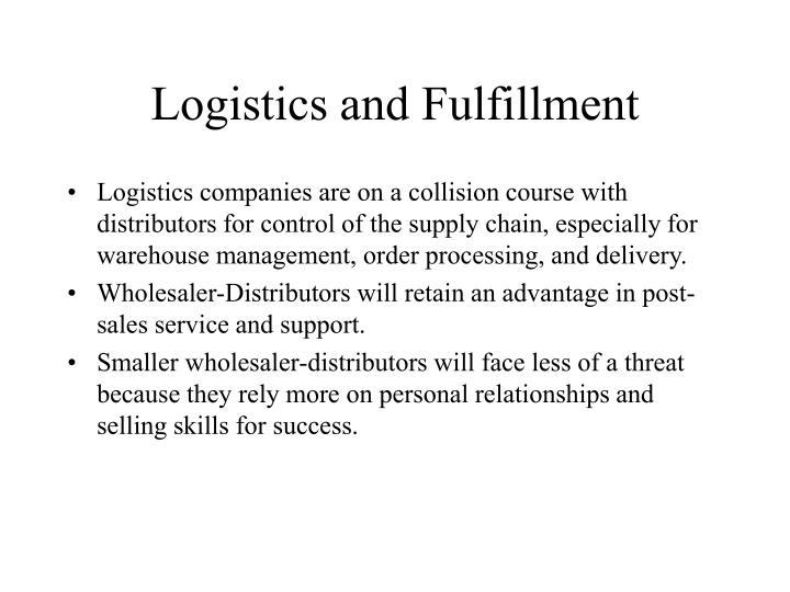 Logistics and Fulfillment