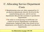 c allocating service department costs