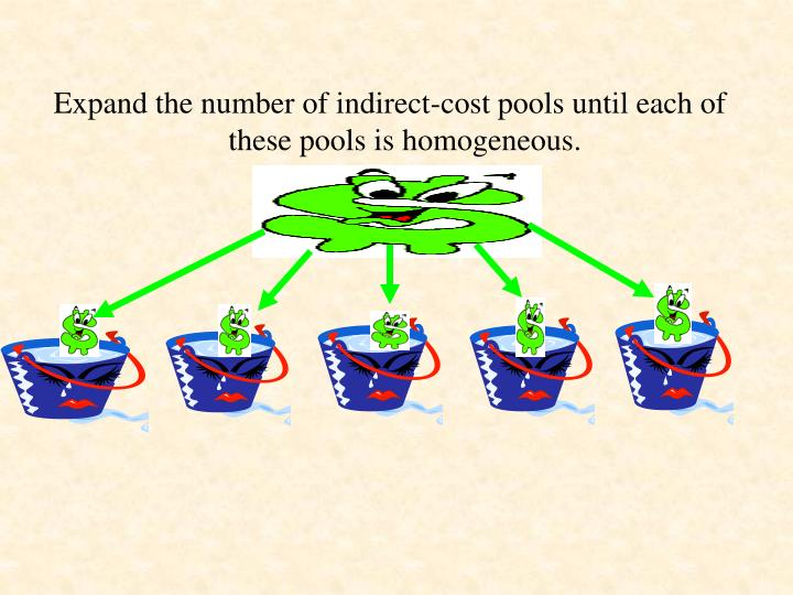 Expand the number of indirect-cost pools until each of these pools is homogeneous.