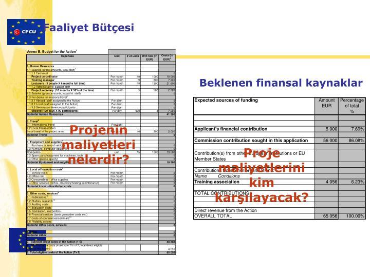 Faaliyet Bütçesi