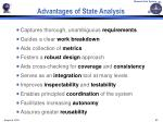 advantages of state analysis