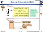 camera temperature goal