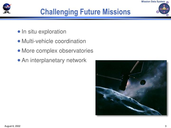 Challenging Future Missions