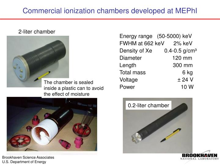 Commercial ionization chambers developed at MEPhI