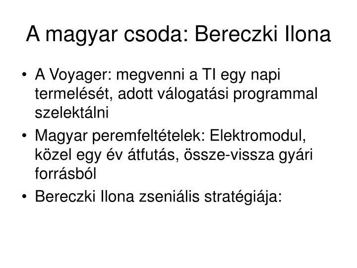 A magyar csoda: Bereczki Ilona