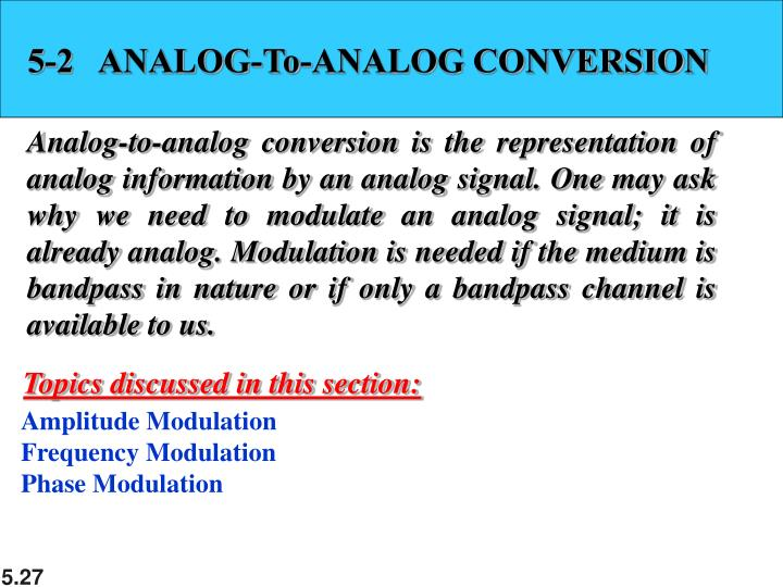 5-2   ANALOG-To-ANALOG CONVERSION
