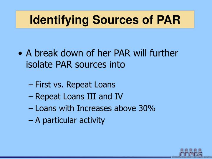 Identifying Sources of PAR