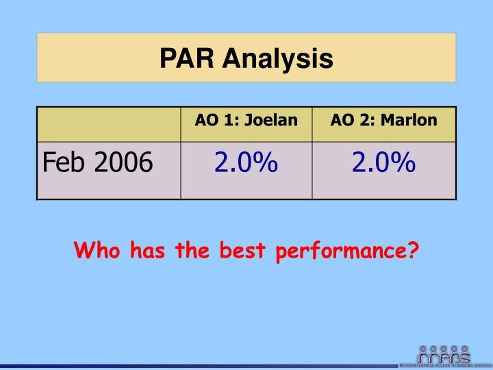 PAR Analysis