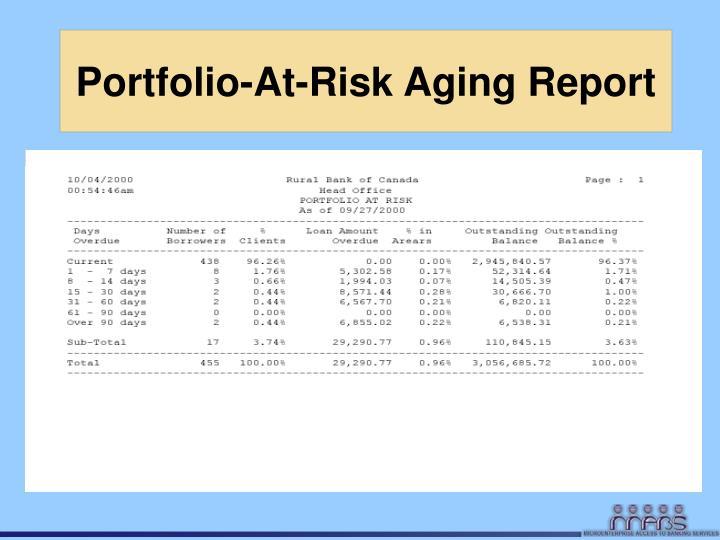 Portfolio-At-Risk Aging Report