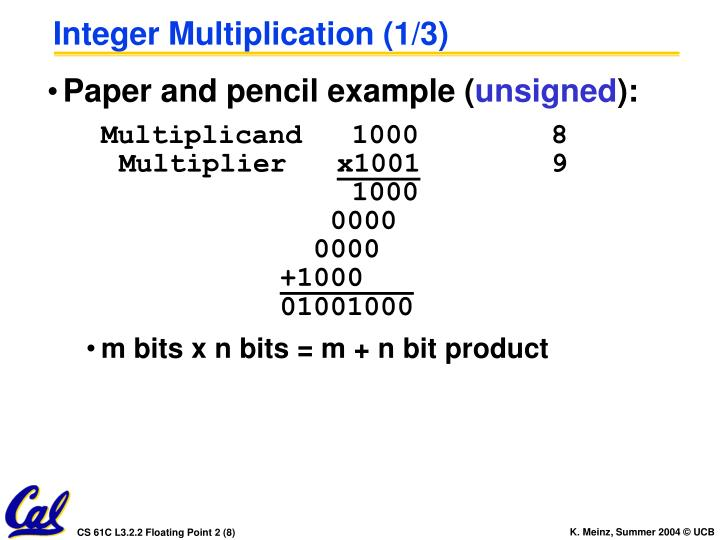 Integer Multiplication (1/3)