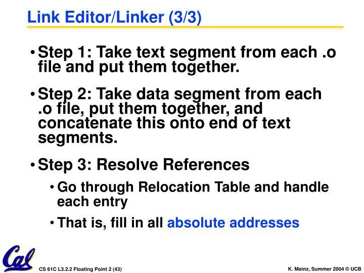 Link Editor/Linker (3/3)