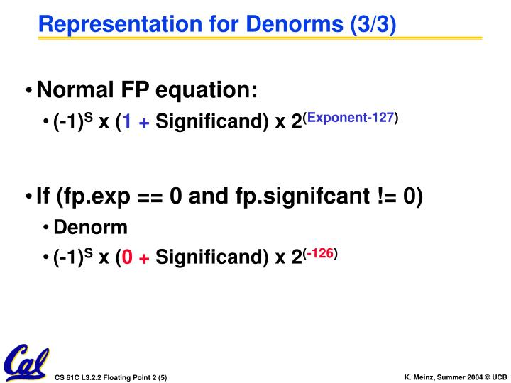 Representation for Denorms (3/3)