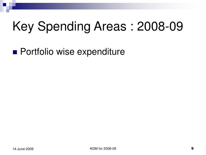 Key Spending Areas : 2008-09