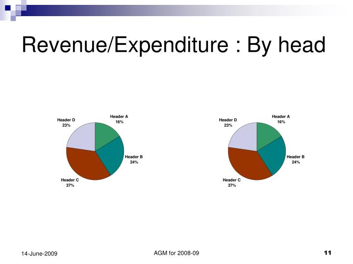Revenue/Expenditure : By head