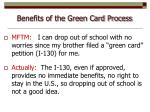 benefits of the green card process