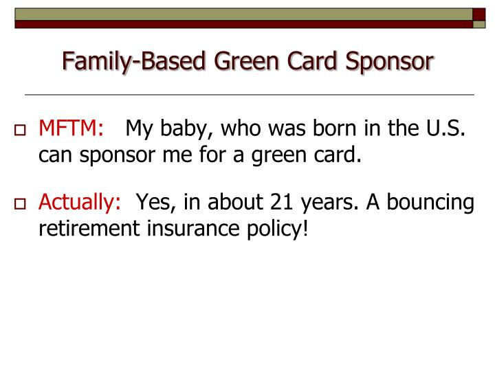 Family-Based Green Card Sponsor