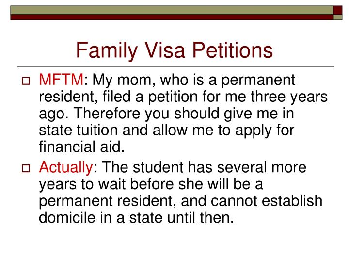 Family Visa Petitions
