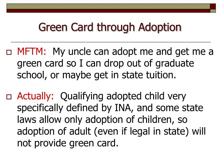 Green Card through Adoption