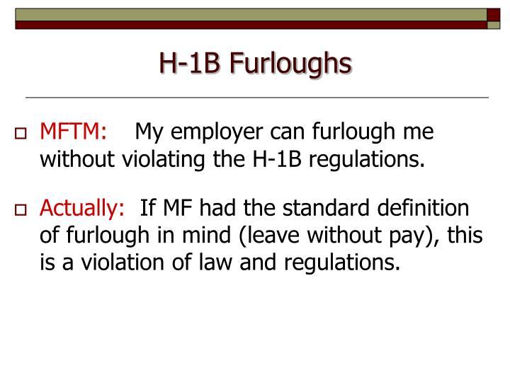 H-1B Furloughs