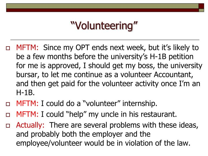 """""""Volunteering"""""""