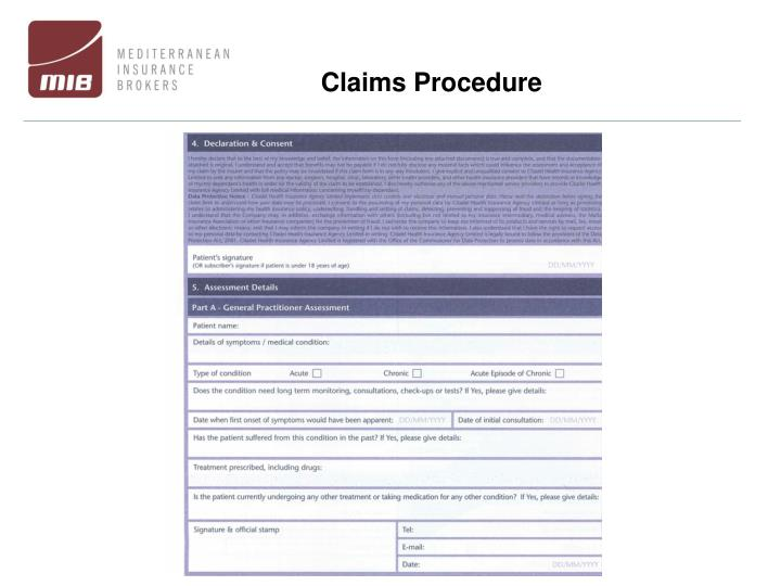 Claims Procedure