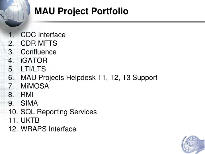 MAU Project Portfolio