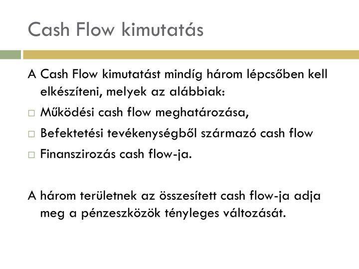 Cash Flow kimutatás