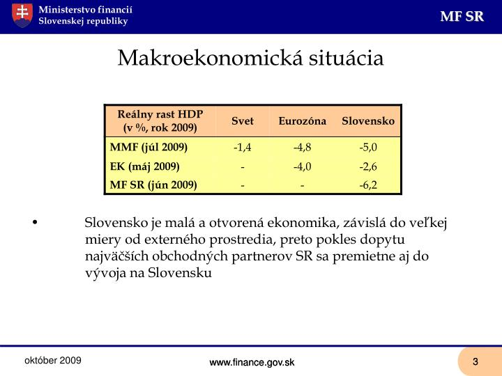 Makroekonomická situácia