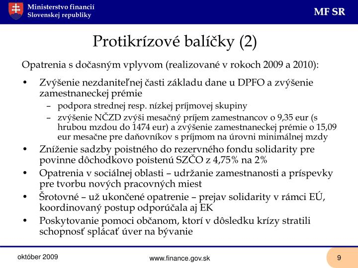 Protikrízové balíčky (2)