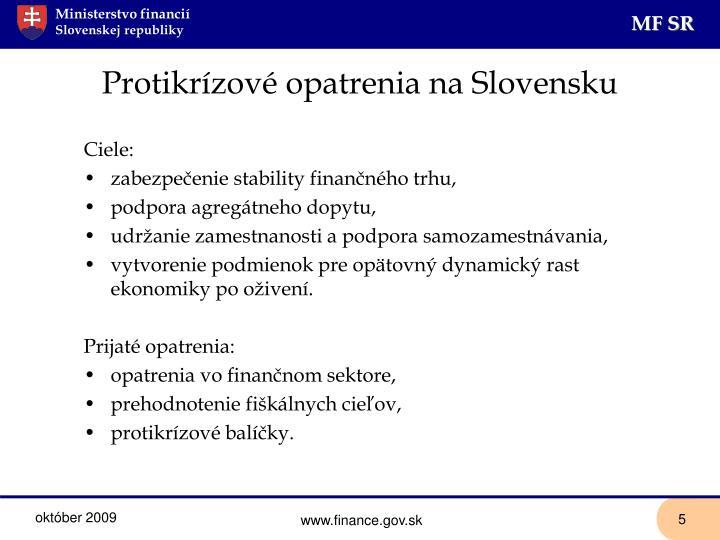 Protikrízové opatrenia na Slovensku