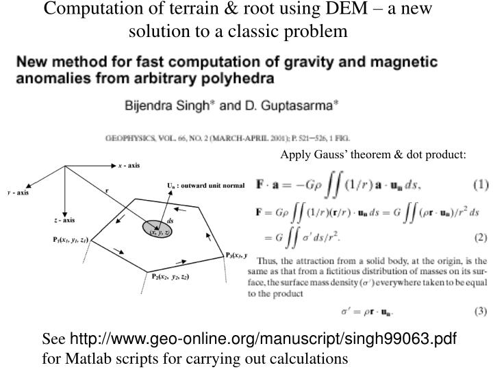 gravity method in geophysics pdf