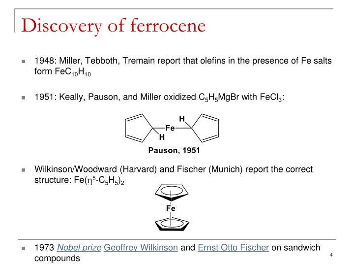 Discovery of ferrocene