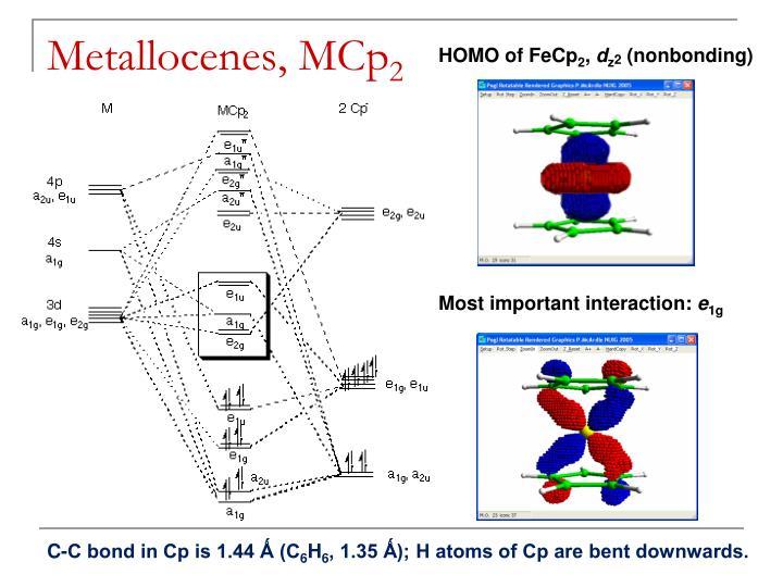Metallocenes, MCp