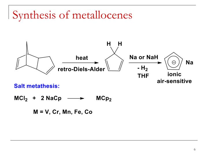 Synthesis of metallocenes