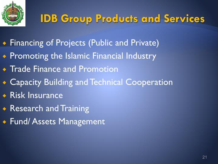 IDB Group Products and Services